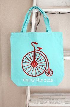 DIY Stenciled Tote... Enjoy the ride!