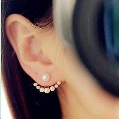 pendientes de perlas de tamaño lindo ms de moda – CLP $ 2.112