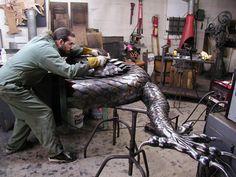 16' Dragon Sculpture by Metal Artist Ken Neiderer