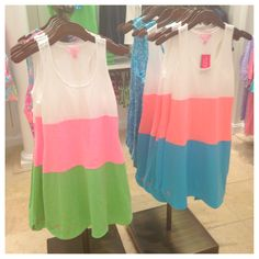 Lilly Pulitzer Summer '13- Cordon Dress in Cosmo Pink and Yummy Melon Block Party