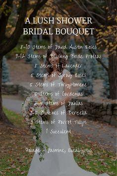 Wedding Bouquet Recipe VII – A Lush Cascading Bridal Bouquet