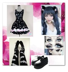 """""""Pastel goth"""" by epenny ❤ liked on Polyvore"""