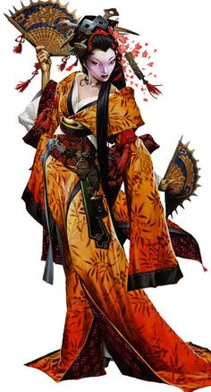 f Rogue Assassin Robes Fans Daggers Asian Faction Onyx in Kyoto photo: Geisha This photo was uploaded by jkconti Wayne Reynolds, Geisha Kunst, Geisha Art, Geisha Anime, Character Concept, Character Art, Concept Art, Amaterasu, Chica Fantasy