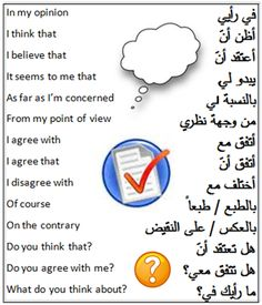 Arabic terms to express your view: Political jargon: English Lesson Plans, English Lessons, Arabic Phrases, Arabic Words, English Phrases, Learn English Words, The Words, Learn Arabic Online, Arabic Lessons