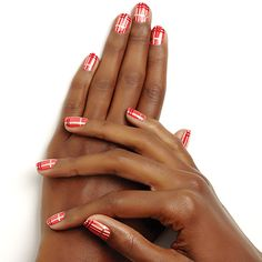tartan tips by essie - perfect for cozying up by the fireplace, this iconic pattern takes on a new life in b right, festive hues.