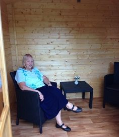"""I am absolutely delighted with my summer house it is something I have always wanted and I truly wonder why I waited as long to get one. It is solid and robust yet looks beautiful and is very comfortable and cosy. It creates a fabulous space which enables myself and my ageing mother to enjoy the wonderful benefits of being out in the garden without being subject to the chilly breezes and changeable weather that we have here in Scotland"" -Eleanor Gilchrist"