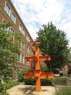 Steel Sculpture next to Hampton Hall of Civil Engineering