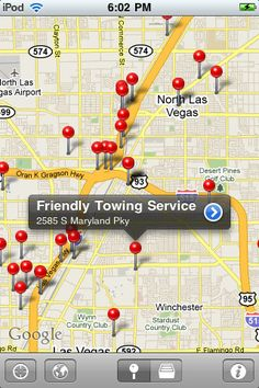 Tow Truck Finder (iOS only) - Helps you find a tow truck either near you, or in whatever city you'd like. One click, and instant access to thousands of tow trucks, wreckers, service centers, and other towing services that can provide roadside assistance.