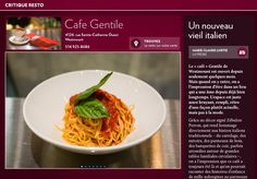 Cafe Gentile : un nouveau vieil italien - La Presse+ Rue Sainte Catherine, Grains, Rice, Food, Going Out, Baby Born, Italy, Meal, Essen