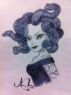Tattoo'd Medusa. Medusa Art, Medusa Gorgon, Medusa Tattoo, Rome Antique, Chef D Oeuvre, Horror Comics, Greek Art, Illustrations, Gods And Goddesses