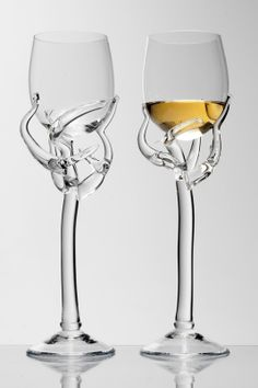 Barborka Wine glass by Borek Sipek. At the Hans Krug showroom in Charlotte, NC.