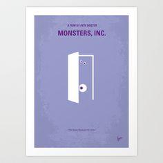 No161 My Monster Inc minimal movie poster Art Print by Chungkong - $18.00