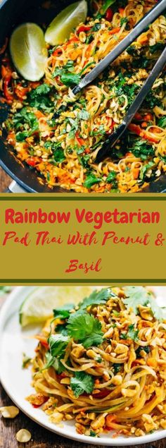 This Rainbow Vegetarian Pad Thai is above all else RAINBOW, which is the main fun approach to eat anything throughout everyday life. Vegetarian Pad Thai, Vegetarian Recipes Dinner, Good Healthy Recipes, Vegan Recipes, Dinner Recipes, Healthy Snacks, Stuffed Pepper Soup, Stuffed Peppers, Pad Thai Noodles