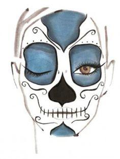skeleton face paint