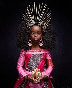 """Black Princess"". Series by @creativesoulphoto  @shoppeblack - Art Black Love, My Black Is Beautiful, Beautiful Images, Young Black, Black Kids, Black Babies, Black Disney Princess, Art Afro, Black Royalty"