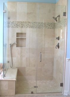 Love light shower color & small tile accent strip