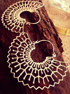 Orecchini India in ottone placcati argento