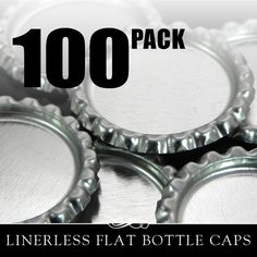 Flat Bottle Caps 100 Flattened Chrome Bottle Caps by AnnieHowes, $6.50