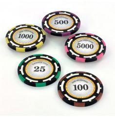 High Roller pokerchips zijn uitermate geschikt voor gebruik bij pokertoernooien.   Deze clay composite chips zijn voorzien van een duidelijke waardeaanduiding en wegen 13,5 gram.