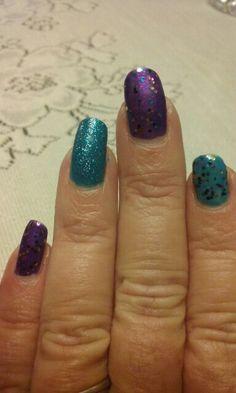 Sparles/Glitter & Teal/Purple