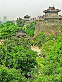 Xi'an outside city wall - China
