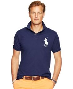 POLO RALPH LAUREN Polo Ralph Lauren Men's Classic-Fit Big Pony Mesh Polo Shirt. #poloralphlauren #cloth # polos