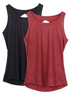 Hibelle Womens Active Racerback Pocket Casual Summer Yoga Workout Tank Tops