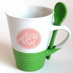 Alpha Kappa Alpha Sorority Coffee Mug with Spoon #Greek #Sorority #Accessories #AKA #AlphaKappaAlpha
