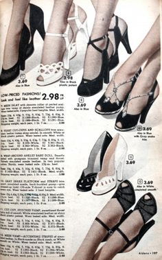 Prom Dresses, Formal Dresses and Party Dresses. 1952 Formal Black Shoes with open toes and thin straps Source by shoes prom 1940s Shoes, Vintage Shoes, Vintage Outfits, Fifties Fashion, Retro Fashion, Vintage Fashion, Vintage Beauty, 1950s Prom Dress, Prom Dresses