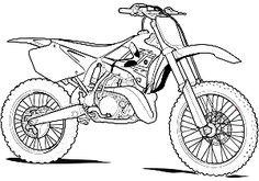 comment dessiner une moto cross
