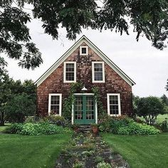 Ivy-covered entrances on a lovely cabin!