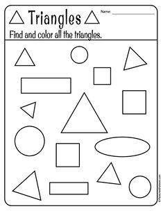 Free printable shapes worksheets for toddlers and preschoolers. Preschool shapes activities such as find and color, tracing shapes and shapes coloring pages. Shape Worksheets For Preschool, Shapes Worksheet Kindergarten, Preschool Printables, Preschool Learning, Toddler Preschool, In Kindergarten, Preschool Shapes, Preschool Activity Sheets, Pre K Worksheets
