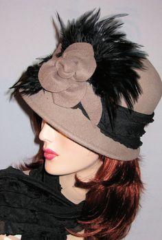 Camel Cloche Wool Hat