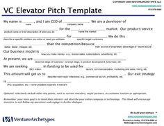 C06 business elevator pitch (worksheet) | Work | Pinterest ...