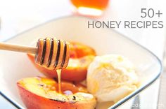50+ Honey Recipes - A collection of over 50 honey recipes from breads, appetizers, drinks, entrees and desserts! A great way to use nature's sweetener! addapinch.com