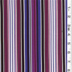 12996 | Black/Pink Stripe Kashebo Crepe Outdoor Pillow, Crepe Fabric, Pink Stripes, Striped Dress, Purple, Black, Striped Dress Outfit, Black People, Pink Streaks
