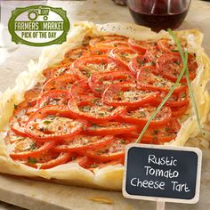 Rustic Tomato Cheese Tart Recipe from Taste of Home