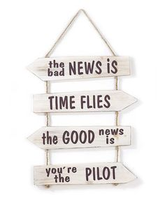 Loving this 'The Bad News' Hanging Wall Sign on #zulily! #zulilyfinds