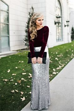 Long Sleeve Prom Dresses,Mermaid Sequin Prom Dresses,Silver Sequin Party Dresses,Sexy Women Formal Gowns