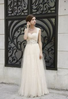Vintage inspired wedding gown.