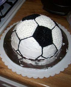 Kick Off Soccer Ball Cake - Honeybee Bakeshop                                                                                                                                                      More