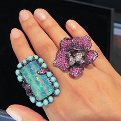These @wendyyuejewellery rings should brighten up your Monday #thisiscouture