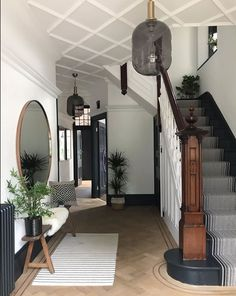 The Cottage 13 Entrance Hall Decor Ideas The Wonder Cottage Decor Cottage entrance Hall Hallway ideas ideas Home Design, Flur Design, Interior Design, Edwardian Hallway, Edwardian Haus, Edwardian Staircase, Modern Staircase, Entrance Hall Decor, House Entrance