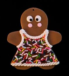 20% OFF SALE Sprinkles Gingerbread Girl by SweetARTbyAshley