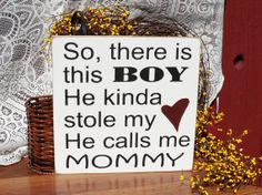 So There Is This Boy... Painted Wood Nursery Sign