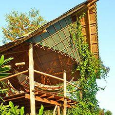 This restaurant have an amazing #organic garden view @Finca Exotica Eco lodge #CostaRica