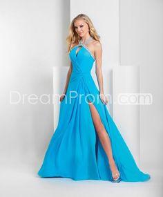 Gorgeous A-Line Halter Floor-Length Brush Train Prom/Evening/Homecoming Dresses
