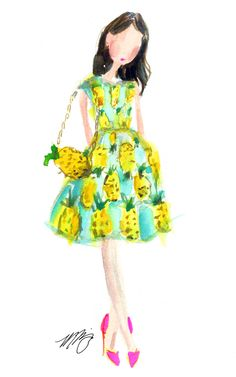loving pineapple print right now. Also obsessed with Marnani Design's sweet and whimsical illustrations!