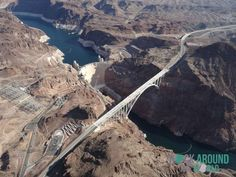 Der Hoover Damm auf der Grenze zwischen den US-Bundesstaaten Nevada und Arizona