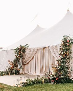 We like grand entrances by @katiestoops Planning by @toast_events & Venue @claxtonfarm and tent draping @classiceventrental…